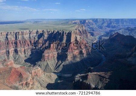 Grand Canyon National Park from the air.