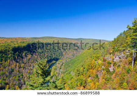 Grand Canyon of PA - view from Leonard Harrison State Park - stock photo