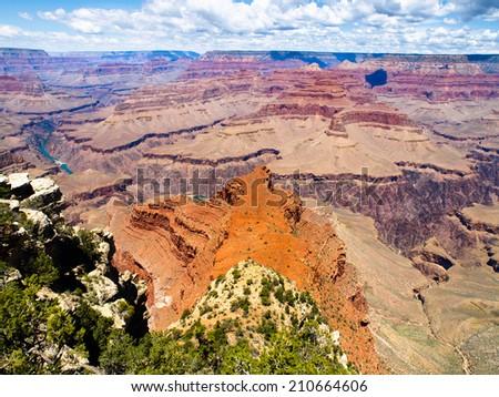 Grand Canyon of river Colorado (Arizona, USA) - stock photo