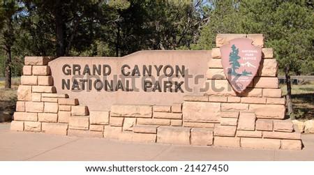 Grand Canyon sign - stock photo