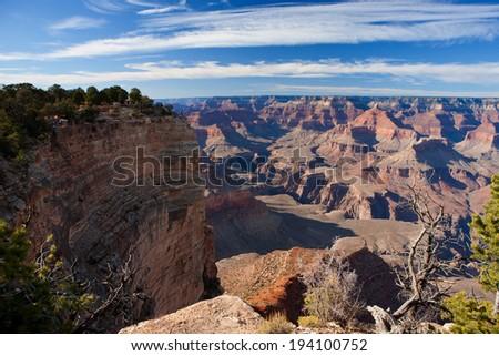 Grand Canyon, South Rim, Arizona, USA - stock photo