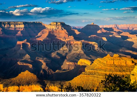 Grand Canyon, South Rim viewpoints - stock photo
