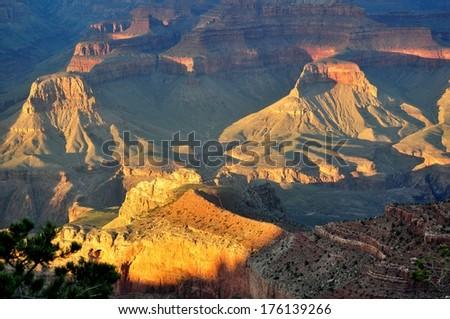 Grand Canyon Sunset 3 - stock photo