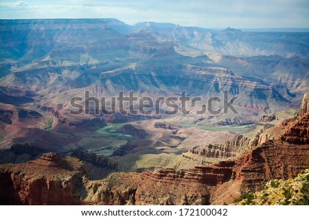 Grand Canyon. The Grand Canyon with the Colorado River winding through it.