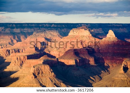 Grand Canyon view from Bright Angel Lodge - landscape format