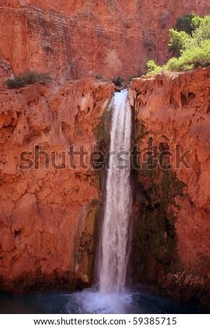Grand Canyon waterfall - stock photo