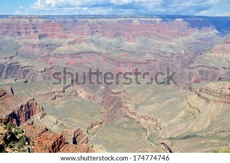 Grand Canyon with blue sky 5 - stock photo