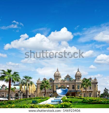 Grand Casino in Monte Carlo, landmark of Monaco. French riviera - stock photo