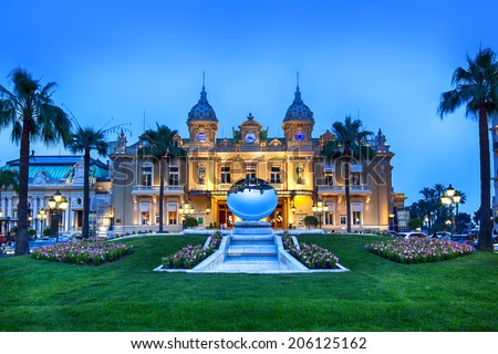 Grand Casino in Monte Carlo, Monaco. - stock photo