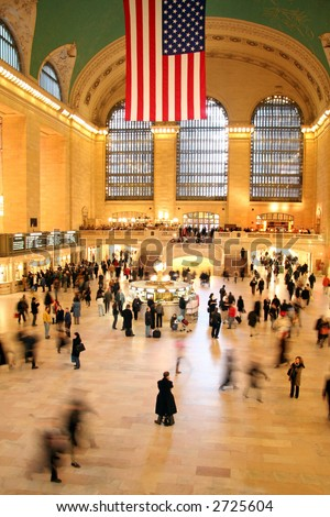 Grand Central Station in New York City - stock photo