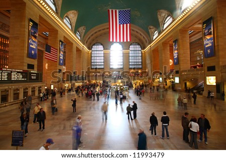 Grand central station new york city - stock photo