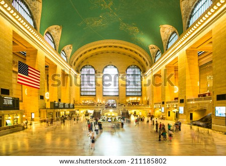 Grand Central Station of New York City - stock photo