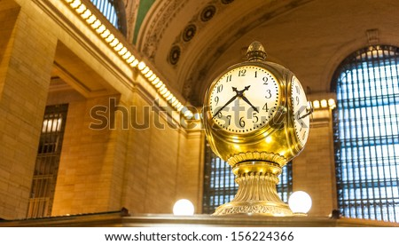 Grand Central Terminal Clock - stock photo