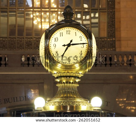 Grand Central Terminal Clock, New York, US - stock photo