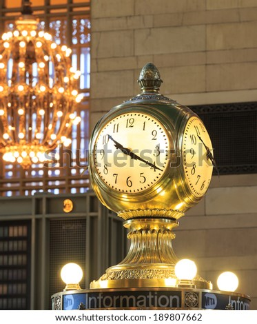 Grand Central Terminal Clock, New York, USA. - stock photo
