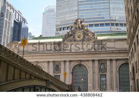 Grand Central Terminal. Railway station. New York City, USA. - stock photo