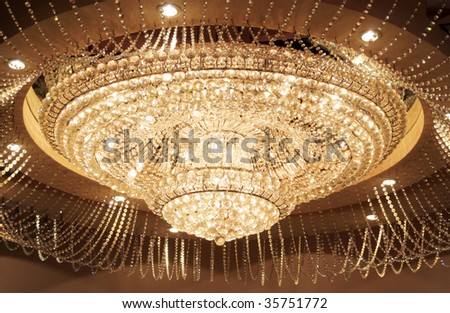 Grand circular crystal chandelier stock photo 35751772 shutterstock grand circular crystal chandelier aloadofball Image collections