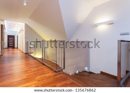 Grand design - second floor of a modern house - stock photo