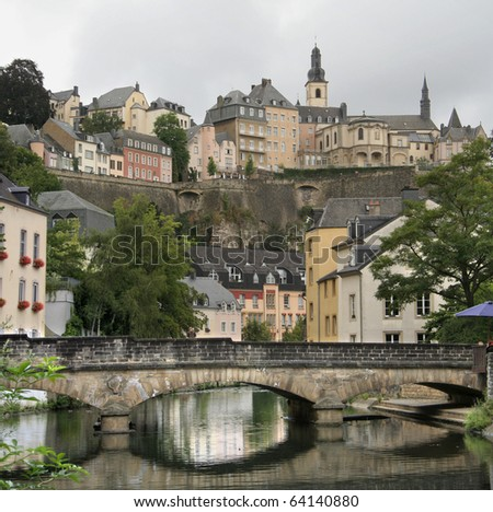 Grand Dutchy of Luxembourg - Alzette river - stock photo