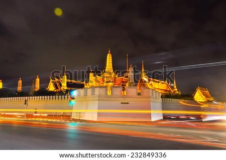 Grand Palace, Bangkok Thailand at the night time - stock photo