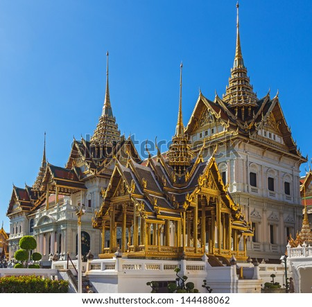Grand Palace Bangkok Thailand in day time - stock photo