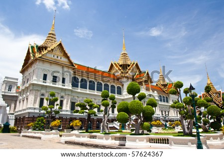 Grand Palace, Landmarks of Bangkok. Thailand