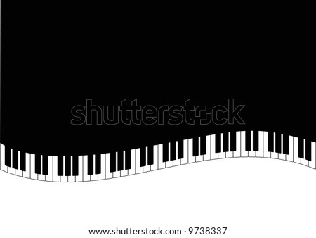 grand piano and piano keys