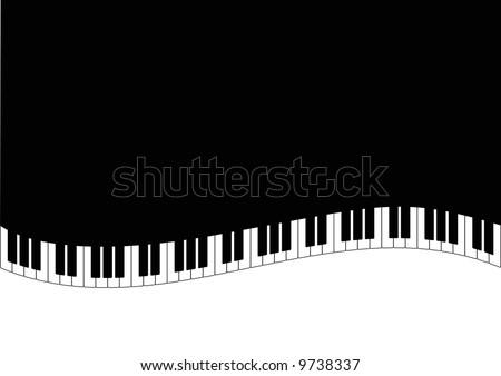 grand piano and piano keys - stock photo