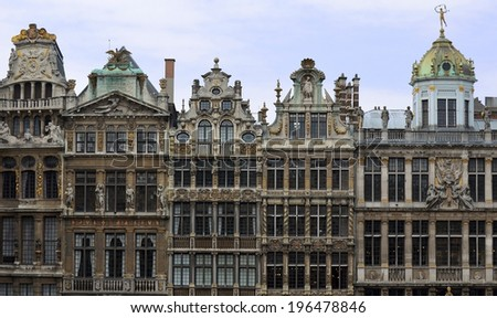 Grand Place Architecture, Brussels - stock photo