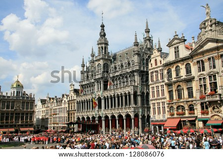 Grand-Place in Brussels - stock photo