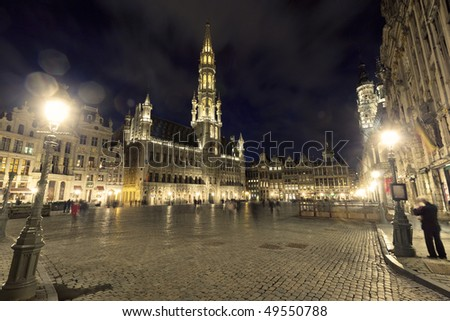 Grand Place in Brussels - stock photo