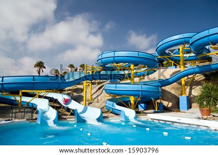 grand slide in water park