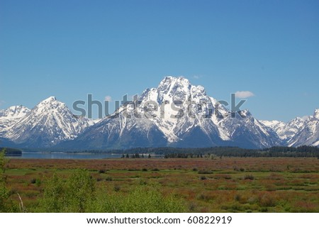 Grand Teton Landscape in a Beautiful Clear Day