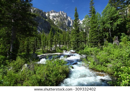 Grand Teton National Park in Wyoming - stock photo