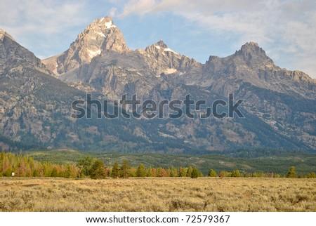 Grand Teton National Park near Jackson, Wyoming - stock photo