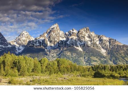 Grand Teton Peaks - stock photo