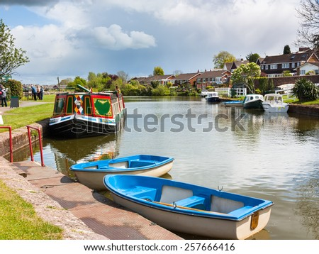 Grand Western Canal at Tiverton Mid Devon England UK Europe - stock photo