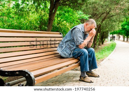 grandfather to rest - stock photo
