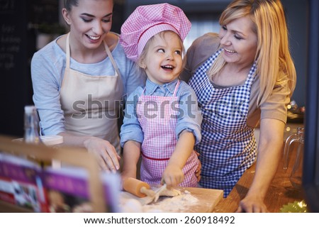 Grandma, what is your secret ingredient for cakes? - stock photo