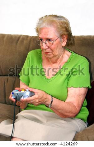 Grandmother Playing - stock photo