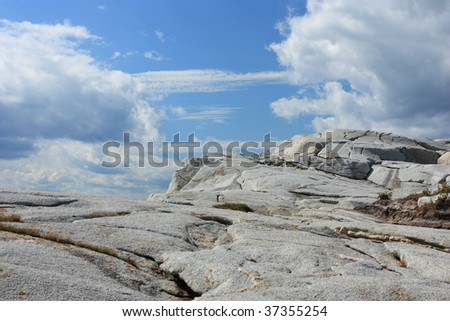 Granite and clouds - stock photo