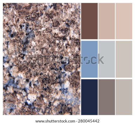 granite color chart selection for interior - stock photo