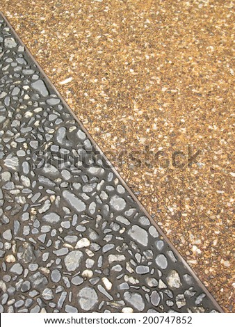 Granite flagstone wet pavement wall background - stock photo
