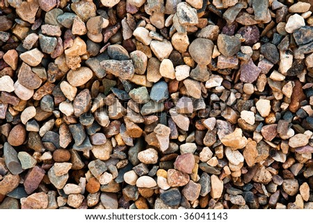 Granite gravel background.