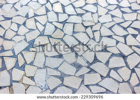 Granite gray flagstone pavement footpath background texture - stock photo