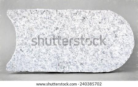 granite plate  - illustration based on own photo image - stock photo