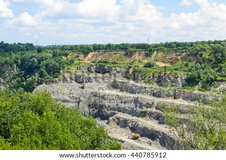 Granite quarry - stock photo
