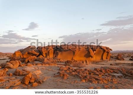 Granite rock formations north of the Brandberg, Namibia