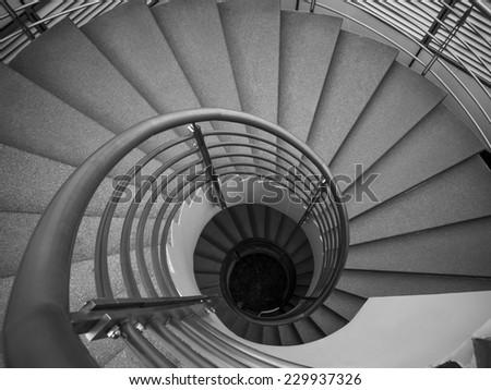 Granite spiral staircase - stock photo