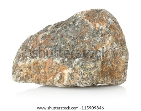 Granite stone isolated on a white background - stock photo